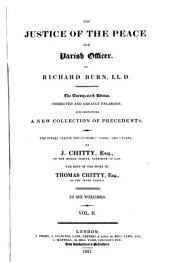 The Justice of the Peace and Parish Officer: Volume 1