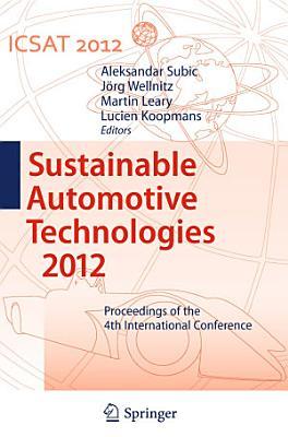Sustainable Automotive Technologies 2012