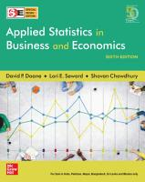 Applied Statistics in Business and Economics   Sixth Edition   SIE PDF
