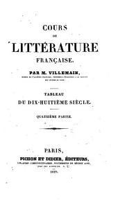 Cours de littérature française. Tableau du dix-huitième siècle: Partie3