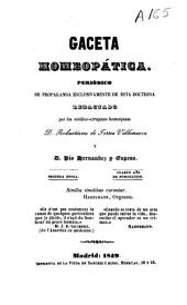 Gaceta homeopática: periódico de propaganda exclusivamente de esta doctrina, Volumen 4