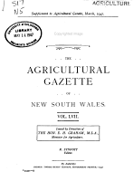 Agricultural Gazette of New South Wales PDF