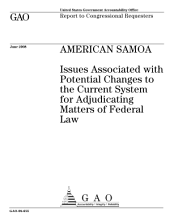 American Samoa: Issues Associated with Potential Changes to the Current System for Adjudicating Matters of Federal Law