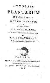 Synopsis Plantarum In Flora Gallica Descriptarum