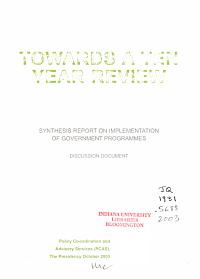 Towards a Ten Year Review