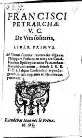De vita solitaria liber primus (secundus)