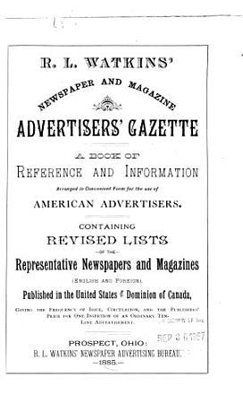 WATKINS  NEWSPAPER AND MAGAZINE ADVERTISERS  GAZETTE  PDF