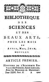 Bibliothèque des sciences et des beaux-arts