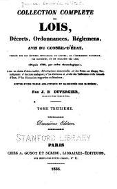 Collection complète des lois, décrets d'intérêe général, traités internationaux, arrêtés, circulaires, instructions, etc: Volume13