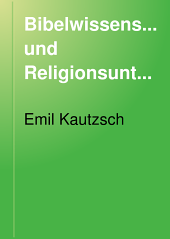 Bibelwissenschaft und Religionsunterricht: sechs thesen, Band 67;Band 942