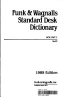 FUNK AND WAGNALLS STANDARD DESK DICTIONARY VOLUME 1 A-M