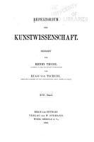 Repertorium f  r Kunstwissenschaft PDF