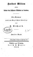 Herbert Milton  oder  Leben der h  heren St  nde in London PDF