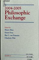 Philosophic Exchange PDF