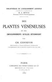 Des Plantes Veneneuses Et Des Empoisonnements Qu'elles Determinent