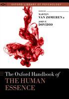 The Oxford Handbook of the Human Essence PDF