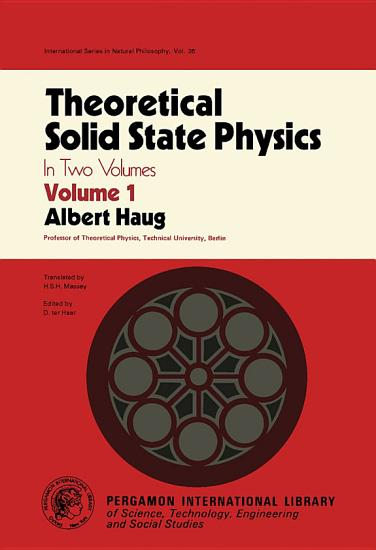 Theoretical Solid State Physics PDF