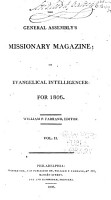The General Assembly s Missionary Magazine PDF