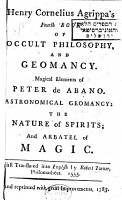 Henry Cornelius Agrippa s Fourth Book of Occult Philosophy  and Geomancy PDF