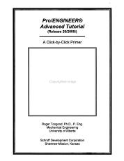 Pro ENGINEER Advanced Tutorial PDF
