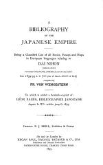 A Bibliography of the Japanese Empire