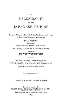 A Bibliography of the Japanese Empire PDF