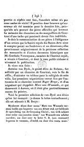 Fausseté d'une anecdote publiée par J.-B. Deschamps, concernant Van Dyck et les Chanoines de Courtrai