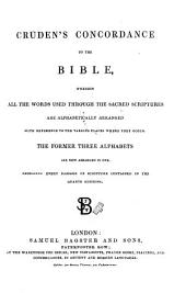 Cruden's Concordance to the Bible