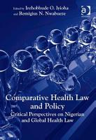 Comparative Health Law and Policy PDF