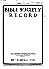 Bible Society record: Volumes 61-62