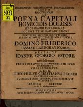 Commentum theologorum evangelicorum haud esse doctrinam de poena capitali, homicidis dolosis necessario infligenda