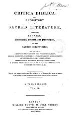 Critica Biblica Or Depository Of Sacred Literature Comprising Remarks On The Sacred Scriptures Ed By W Carpenter  Book PDF