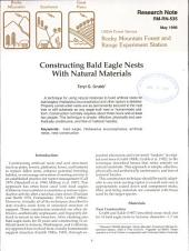 Constructing bald eagle nests with natural materials