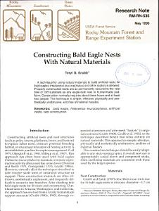 Constructing Bald Eagle Nests with Natural Materials Book