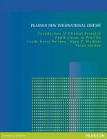 Foundations of Clinical Research  Pearson New International Edition PDF