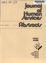 Journal Of Human Services Abstracts Book PDF