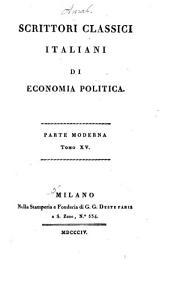 Meditazioni sulla economia politica: Volume 22