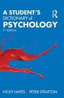 A Student s Dictionary of Psychology PDF