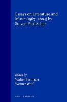 Essays on Literature and Music  1967 2004  PDF