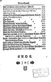 Irdisches Vergnügen in Gott, bestehend in Physicalisch- und Moralischen Gedichten: Fünfter Theil, Band 5