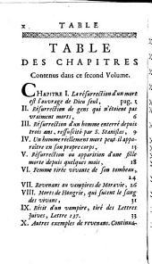 Traité sur les apparitions des esprits, et sur les vampires, ou les revenans de Hongrie, de Moravie, &c: Volume2