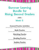 Summer Learning Bundle for Rising Second Graders---Week 5