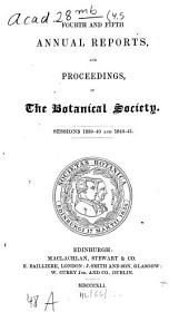 Annual report and proceedings of the Botanical Society: Volumes 4-5