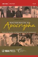 Mathematical Apocrypha  Stories and Anecdotes of Mathematicians and the Mathematical PDF