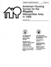 Current Housing Reports: American housing survey for the Phoenix metropolitan area in ...