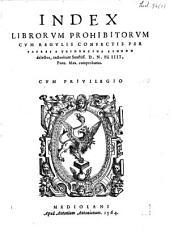 Index librorum prohibitorum ...