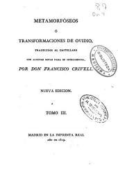 Metamorfóseos o Transformaciones: Volumen 3