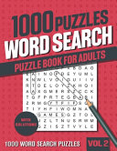 1000 Word Search Puzzle Book for Adults
