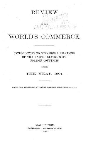 Review of the World's Commerce