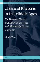 Classical Rhetoric in the Middle Ages PDF